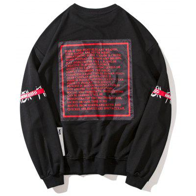 Graphic Patch Design SweatshirtMens Hoodies &amp; Sweatshirts<br>Graphic Patch Design Sweatshirt<br><br>Material: Polyester<br>Package Contents: 1 x Sweatshirt<br>Pattern Type: Graphic<br>Shirt Length: Regular<br>Sleeve Length: Full<br>Style: Streetwear<br>Weight: 0.6700kg