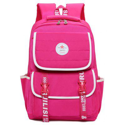 Letter Print Contraste Color Couples Backpack