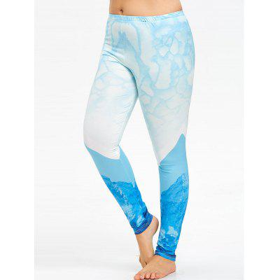 Plus Size High Rise Ombre Printed Leggings