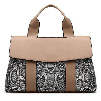 Snake Print Faux Leather Handbag