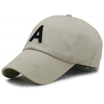 Letter A Embroidery Adjustable Baseball Hat