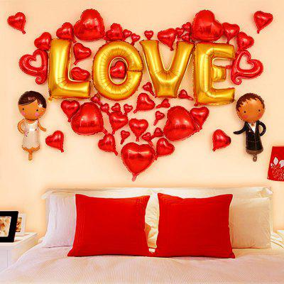 Wedding Party Decoration Love Hearts Shape Balloons Set