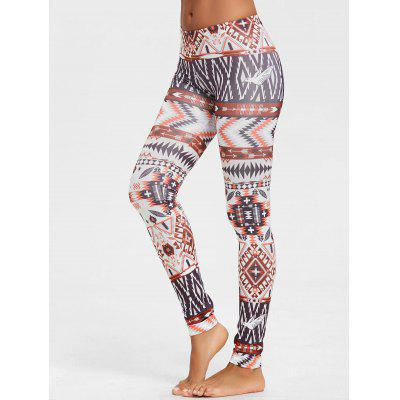 Behemian Geometric Print Leggings