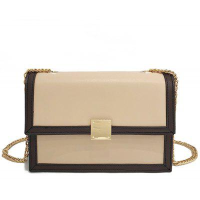 Chain Flap Faux Leather Crossbody Bag