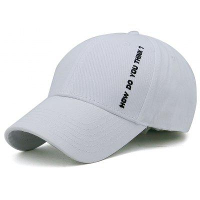 HOW DO YOU THINK Pattern Decorated Baseball Hat