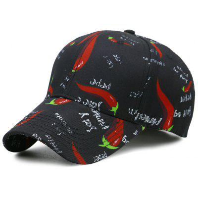 Funny Pepper Pattern Embellished Baseball Hat