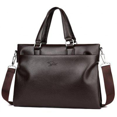 Multi Function Faux Leather Briefcase