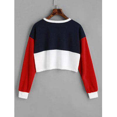 Contrast Cropped SweatshirtSweatshirts &amp; Hoodies<br>Contrast Cropped Sweatshirt<br><br>Clothing Style: Sweatshirt<br>Material: Polyester<br>Package Contents: 1 x Sweatshirt<br>Pattern Style: Patchwork<br>Shirt Length: Short<br>Sleeve Length: Full<br>Weight: 0.3000kg