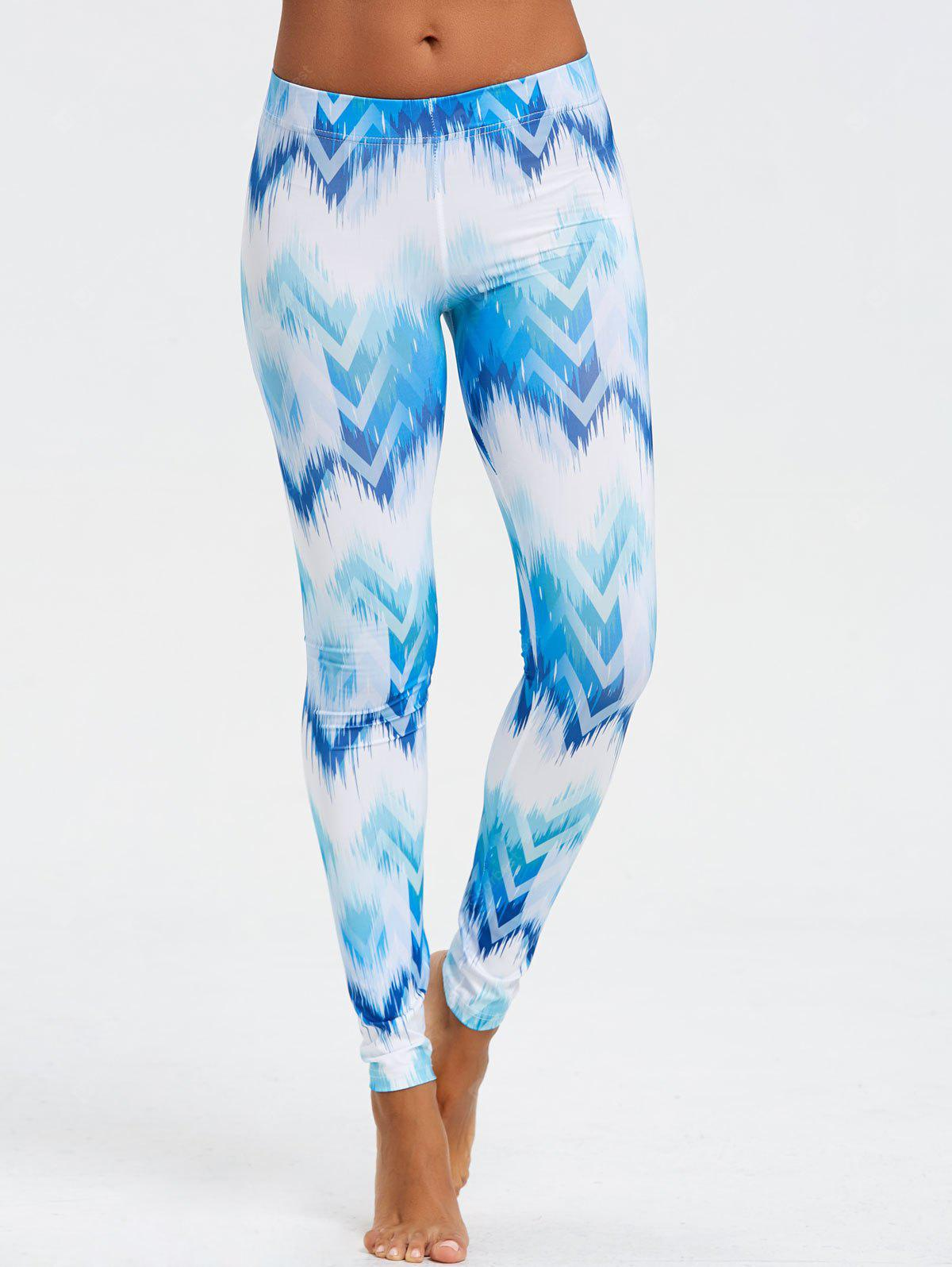 Ombre Print Chevron Leggings