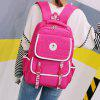 Letter Print Contraste Color Couples Backpack - CIENTOS DE FRUCTOSA