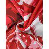 Round Abstract Print Beach Throw - RED WITH WHITE
