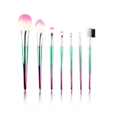 7Pcs Gradient Color Pattern Fiber Hair Makeup Brush Set