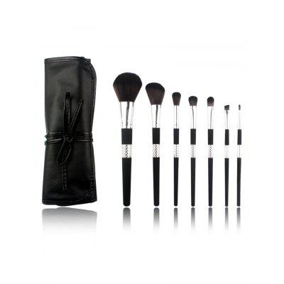 Professional 7Pcs High Quality Fiber Hair Cosmetic Brush Set com saco