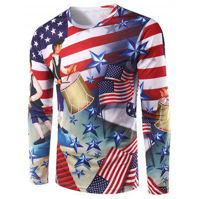 Long Sleeve American Independence Day Tee