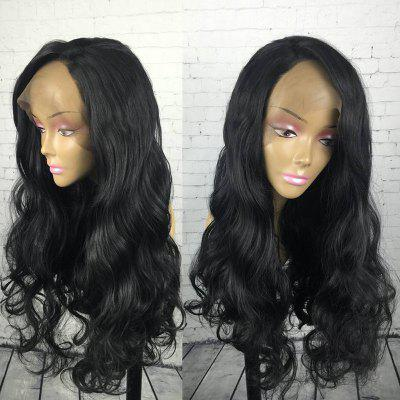 Long Side Parting Fluffy Wavy Synthetic Lace Front Wig