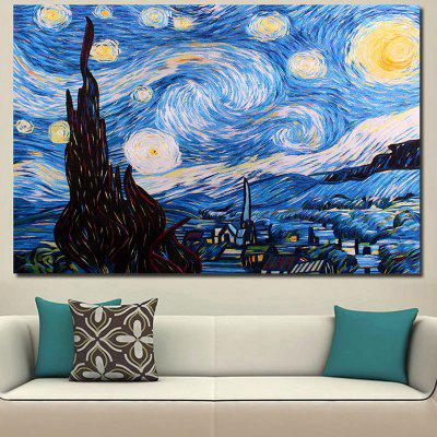 Artistic Abstract Sun and Star Pattern Wall Art Painting