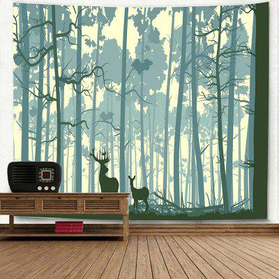 Forest Two Deer Pattern Wall Art TapestryBlankets &amp; Throws<br>Forest Two Deer Pattern Wall Art Tapestry<br><br>Feature: Removable, Washable<br>Material: Polyester<br>Package Contents: 1 x Tapestry<br>Shape/Pattern: Animal,Forest<br>Style: Novelty<br>Weight: 0.3100kg