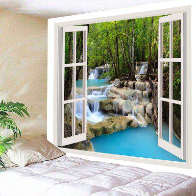 Wall Hanging Window Scenery Stream Print Tapestry