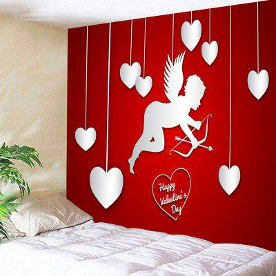 Valentine's Day Cupid Hearts Pattern Wall Tapestry