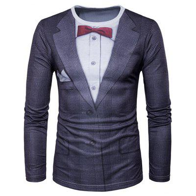 Gearbest Bowtie and blazer  long sleeve t-shirt