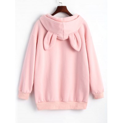Rabbit Embroidered Oversized HoodieSweatshirts &amp; Hoodies<br>Rabbit Embroidered Oversized Hoodie<br><br>Clothing Style: Hoodie<br>Material: Cotton, Polyester<br>Package Contents: 1 x Hoodie<br>Pattern Style: Animal<br>Shirt Length: Regular<br>Sleeve Length: Full<br>Weight: 0.6000kg