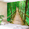 Spring Forest Wooden Walkway Print Wall Tapestry - COLORMIX
