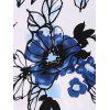 Fit and Flare Floral Vintage Midi Dress - BLUE