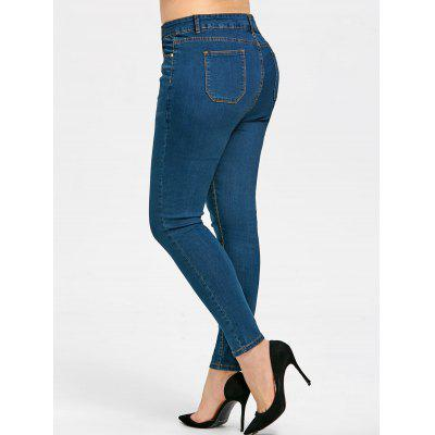 Plus Size Basic Slim JeansPlus Size<br>Plus Size Basic Slim Jeans<br><br>Closure Type: Zipper Fly<br>Elasticity: Micro-elastic<br>Embellishment: Pockets<br>Fabric Type: Denim<br>Fit Type: Skinny<br>Length: Ninth<br>Material: Jeans<br>Package Contents: 1 x Jeans<br>Pant Style: Pencil Pants<br>Pattern Type: Solid<br>Style: Fashion<br>Waist Type: Mid<br>Weight: 0.4800kg