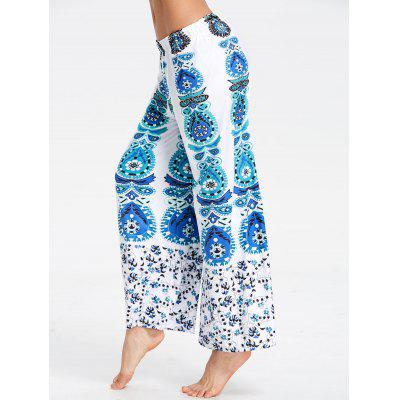 Pantalones con estampado tribal de pierna ancha