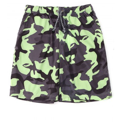 Camo Drawstring Board Shorts