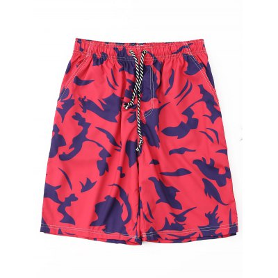 где купить Drawstring Printed Board Shorts дешево