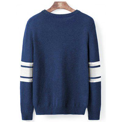 Crew Neck Color Block Stripe Pullover SweaterMens Sweaters &amp; Cardigans<br>Crew Neck Color Block Stripe Pullover Sweater<br><br>Collar: Crew Neck<br>Material: Cotton<br>Package Contents: 1 x Sweater<br>Sleeve Length: Full<br>Style: Fashion<br>Type: Pullovers<br>Weight: 0.3500kg