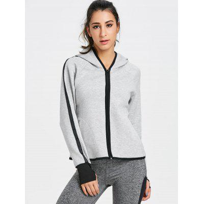 Gym Zip Up Hooded JacketSweatshirts &amp; Hoodies<br>Gym Zip Up Hooded Jacket<br><br>Closure Type: Zipper<br>Collar: Hooded<br>Embellishment: Pockets<br>Material: Cotton, Polyester<br>Package Contents: 1 x Jacket<br>Pattern Type: Solid<br>Shirt Length: Regular<br>Sleeve Length: Full<br>Weight: 0.5000kg