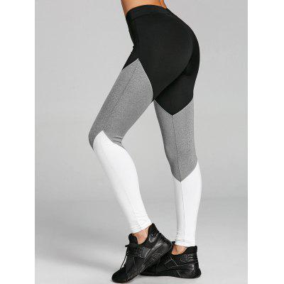 High Rise Color Block Yoga Tights