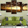 Twilight and Bare Tree Pattern Wall Art Canvas Paintings - COLORMIX