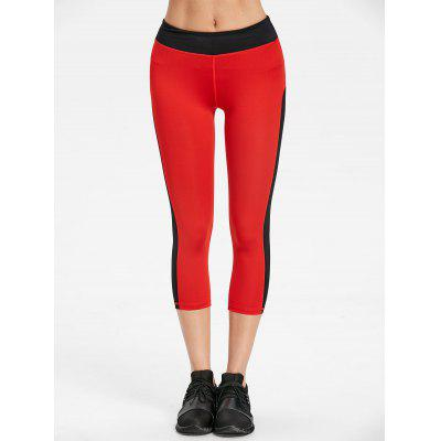 Two Tone Cropped Sports LeggingsPants<br>Two Tone Cropped Sports Leggings<br><br>Closure Type: Elastic Waist<br>Fit Type: Skinny<br>Length: Capri<br>Material: Polyester<br>Package Contents: 1 x Leggings<br>Pant Style: Pencil Pants<br>Pattern Type: Others<br>Style: Active<br>Waist Type: Mid<br>Weight: 0.2300kg