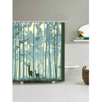 Forest Two Deer Print Waterproof Polyester Bath CurtainShower Curtain<br>Forest Two Deer Print Waterproof Polyester Bath Curtain<br><br>Materials: Polyester<br>Number of Hook Holes: W59 inch*L71 inch: 10; W65 inch*L71 inch: 10; W71 inch*L71 inch: 12; W71 inch*L79 inch: 12<br>Package Contents: 1 x Shower Curtain 1 x Hooks (Set)<br>Pattern: Animal,Forest<br>Products Type: Shower Curtains<br>Style: Vintage