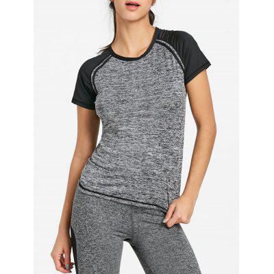 Raglan Sleeve Heather Workout T-shirt