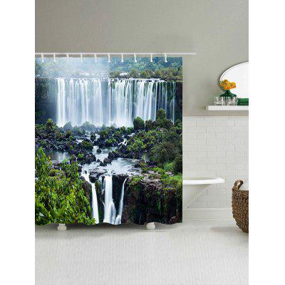 Waterfall Landscape Print Waterproof Polyester Bath CurtainShower Curtain<br>Waterfall Landscape Print Waterproof Polyester Bath Curtain<br><br>Materials: Polyester<br>Number of Hook Holes: W59 inch*L71 inch: 10; W65 inch*L71 inch: 10; W71 inch*L71 inch: 12; W71 inch*L79 inch: 12<br>Package Contents: 1 x Shower Curtain 1 x Hooks (Set)<br>Products Type: Shower Curtains<br>Style: Fashion