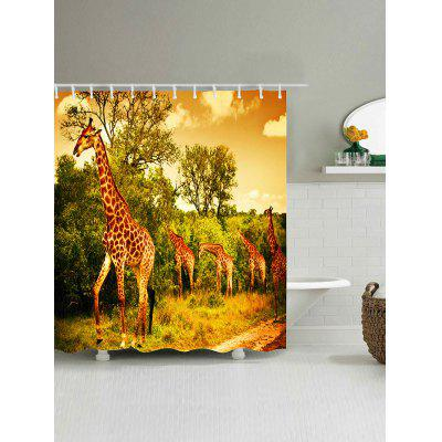Foraging Giraffes Print Waterproof Polyester Bath CurtainShower Curtain<br>Foraging Giraffes Print Waterproof Polyester Bath Curtain<br><br>Materials: Polyester<br>Number of Hook Holes: W59 inch*L71 inch: 10; W65 inch*L71 inch: 10; W71 inch*L71 inch: 12; W71 inch*L79 inch: 12<br>Package Contents: 1 x Shower Curtain 1 x Hooks (Set)<br>Pattern: Animal<br>Products Type: Shower Curtains<br>Style: Fashion