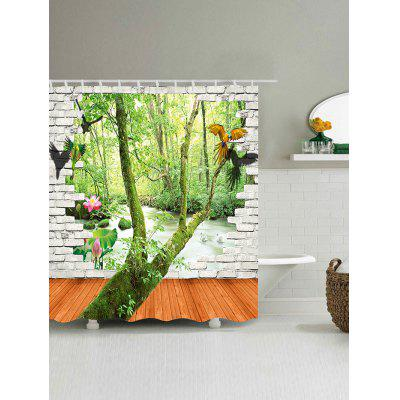 Parrots Brick Wall Tree Print Waterproof Shower CurtainShower Curtain<br>Parrots Brick Wall Tree Print Waterproof Shower Curtain<br><br>Materials: Polyester<br>Number of Hook Holes: W59 inch*L71 inch: 10; W65 inch*L71 inch: 10; W71 inch*L71 inch: 12; W71 inch*L79 inch: 12<br>Package Contents: 1 x Shower Curtain 1 x Hooks (Set)<br>Products Type: Shower Curtains<br>Style: Novelty