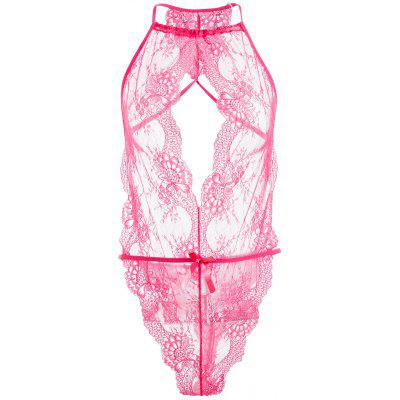 Pizzo Sheer Thong Teddy