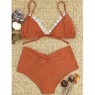 Padded Laced Bikini SetLingerie &amp; Shapewear<br>Padded Laced Bikini Set<br><br>Bra Style: Padded<br>Elasticity: Elastic<br>Embellishment: Lace<br>Gender: For Women<br>Material: Nylon, Spandex<br>Neckline: Spaghetti Straps<br>Package Contents: 1 x Bra  1 x Briefs<br>Pattern Type: Solid<br>Style: Sexy<br>Support Type: Wire Free<br>Swimwear Type: Bikini<br>Waist: Natural<br>Weight: 0.1800kg
