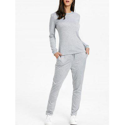 Drawstring High Waisted Sweat Suits