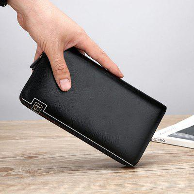 Minimalist PU Leather Wristlets WalletWallets<br>Minimalist PU Leather Wristlets Wallet<br><br>Closure Type: Zipper<br>Gender: For Men<br>Height: 11CM<br>Length: 20CM<br>Main Material: PU<br>Package Contents: 1 x Wallet<br>Pattern Type: Solid<br>Style: Fashion<br>Wallets Type: Clutch Wallets<br>Weight: 0.6000kg<br>Width: 3CM