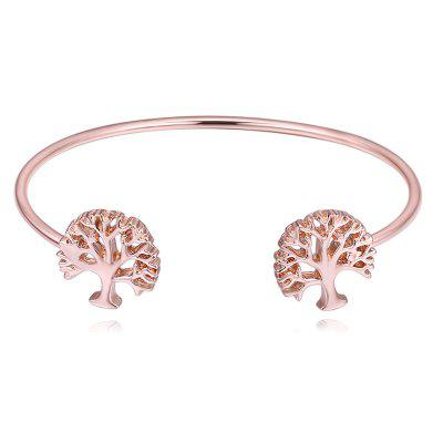 Hollow Out Tree Decorated Cuff Bracelet