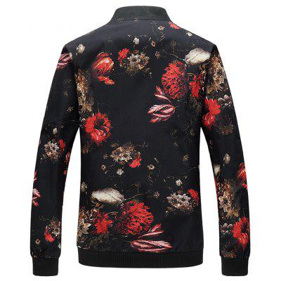 Stand Collar 3D Florals Print Zip Up JacketMens Jackets &amp; Coats<br>Stand Collar 3D Florals Print Zip Up Jacket<br><br>Closure Type: Zipper<br>Clothes Type: Jackets<br>Collar: Stand Collar<br>Material: Polyester<br>Occasion: Holiday, Going Out, Daily Use, Casual<br>Package Contents: 1 x Jacket<br>Season: Fall, Spring<br>Shirt Length: Regular<br>Sleeve Length: Long Sleeves<br>Style: Fashion, Streetwear, Casual<br>Weight: 0.4400kg
