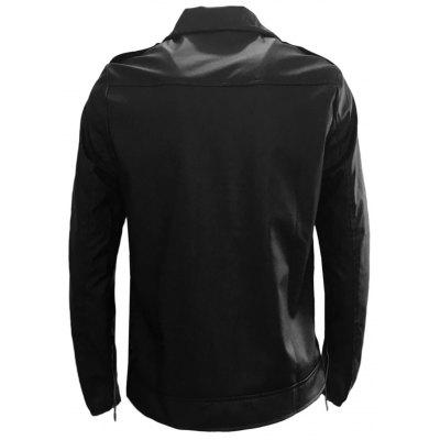 Turndown Collar Belt Design Zip Up PU Leather JacketMens Jackets &amp; Coats<br>Turndown Collar Belt Design Zip Up PU Leather Jacket<br><br>Closure Type: Zipper<br>Clothes Type: Leather &amp; Suede<br>Collar: Turn-down Collar<br>Material: Faux Leather, Polyester<br>Occasion: Holiday, Going Out, Daily Use, Casual<br>Package Contents: 1 x Jacket<br>Season: Fall, Spring, Winter<br>Shirt Length: Regular<br>Sleeve Length: Long Sleeves<br>Style: Casual, Fashion, Streetwear<br>Weight: 0.9200kg