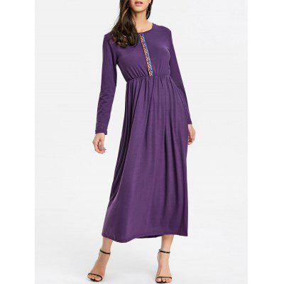 Casual Half Button Maxi Dress
