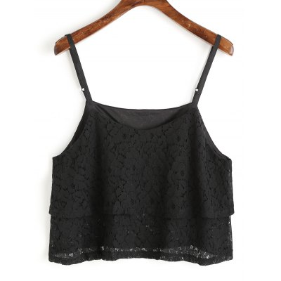 Lace Overlay Cami Top